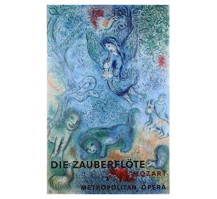 Marc Chagall, The Magic Flute, Poster