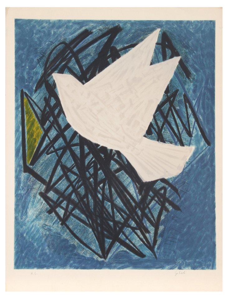 Emile Gilioli, Dove, Lithograph