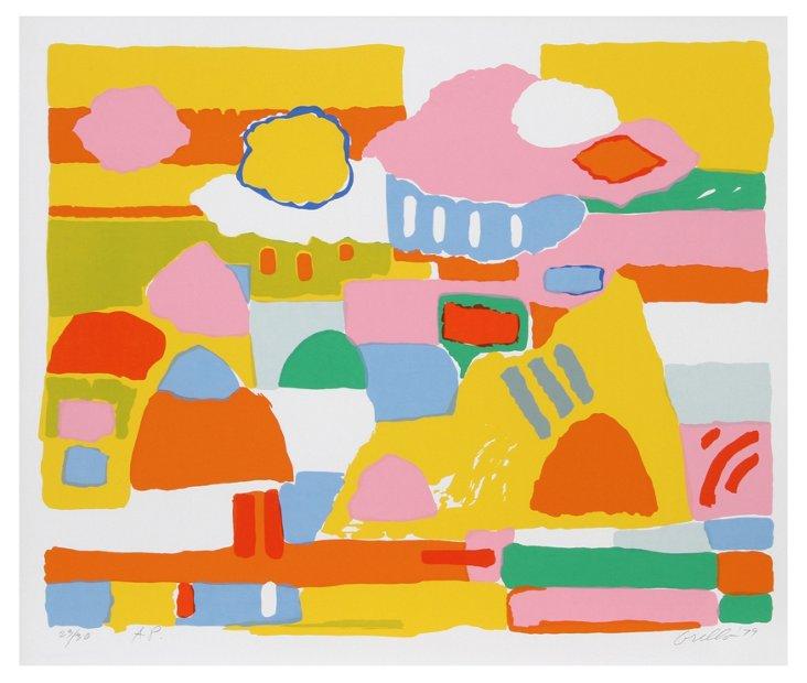 John Grillo, Landscape II, Serigraph