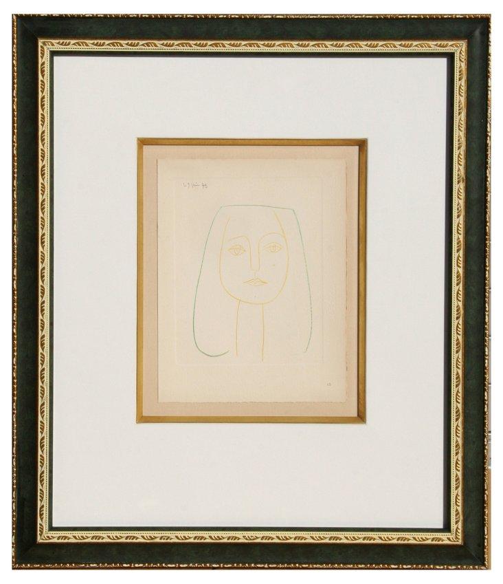 Picasso, Of Jacqueline, Framed Pochoir