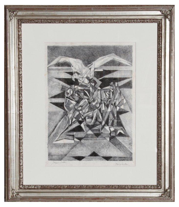 J. Villon, l'Agile, Lithograph in ink