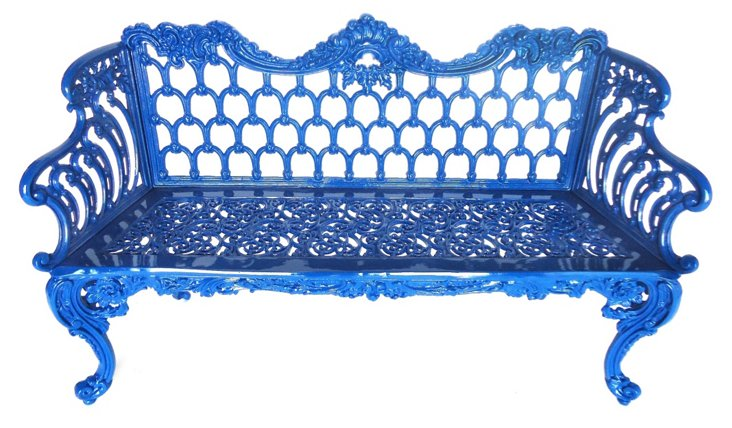 Dauphine Bench, Blue
