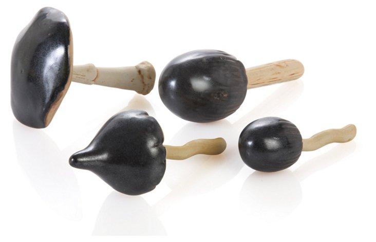 Asst. of 4 Stoneware Mushrooms