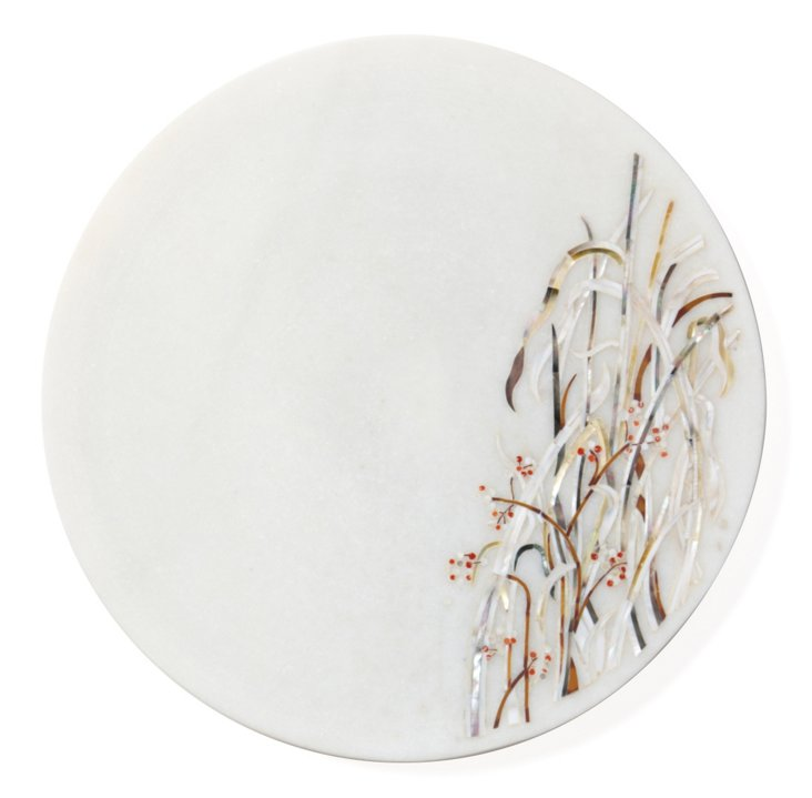 Reed Marble & Mother-Of-Pearl Platter