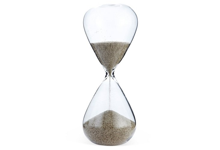 Silver-Plated Sand Hourglass