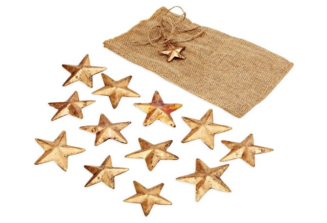 S/12 Brass Stars, Small