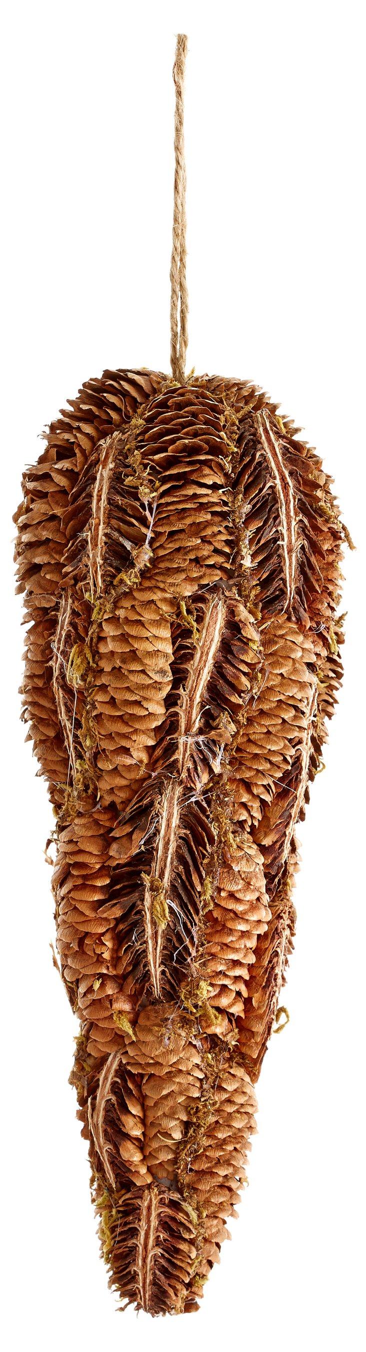 S/2 Large Pinecone & Lichen Ornaments