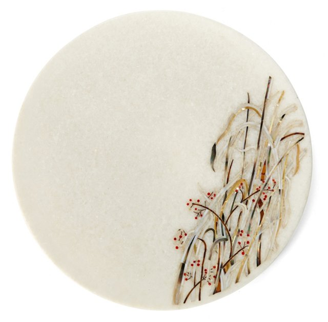 """13"""" Reed Marble Platter"""