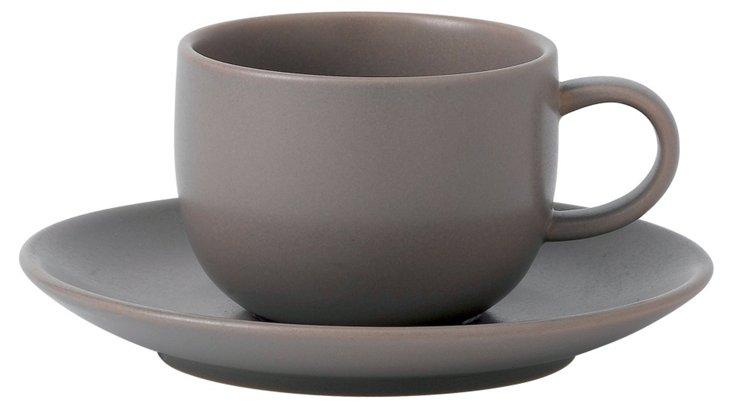Mode Espresso Cup & Saucer, Stone