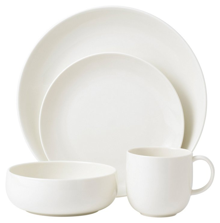4-Pc Mode Place Setting, White