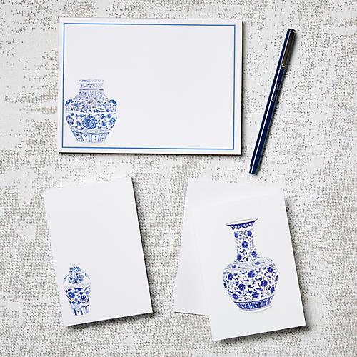 Asst. of 11 Ginger Jars Stationery Set