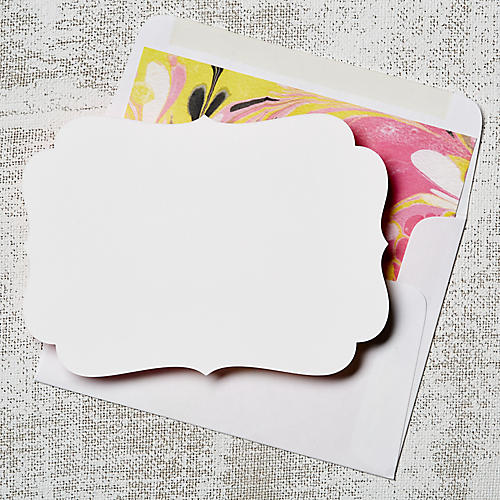 S/8 Pink Marble Note Cards