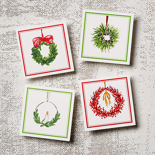 Asst. of 12 Wreaths Note Cards