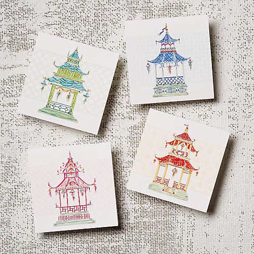 Asst. of 12 Pagodas Note Cards