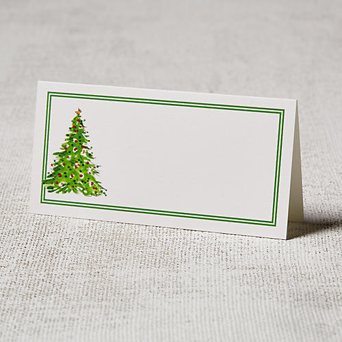 S/24 Holiday Tree Place Cards