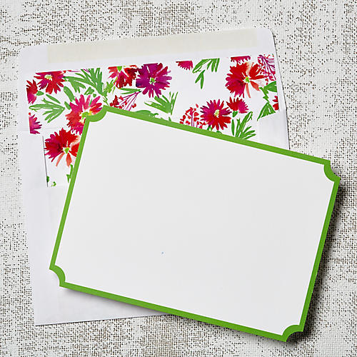 S/8 Floral Note Cards