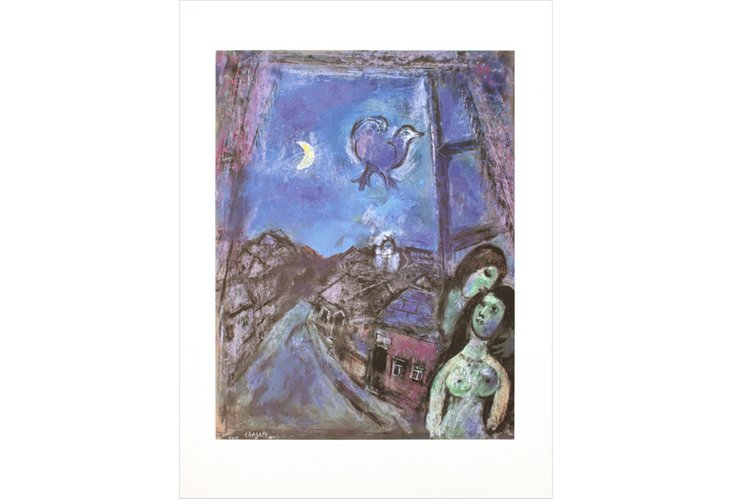 Marc Chagall, Window in the Evening