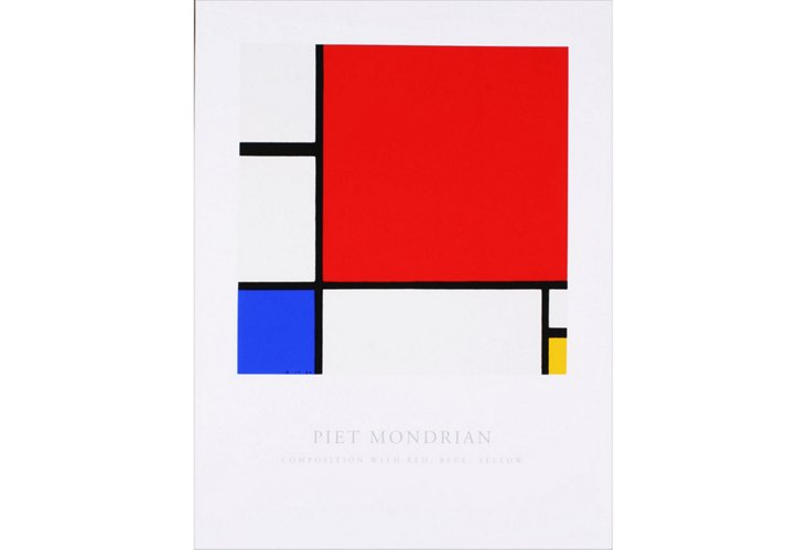 Mondrian,Composition: Red, Blue & Yellow