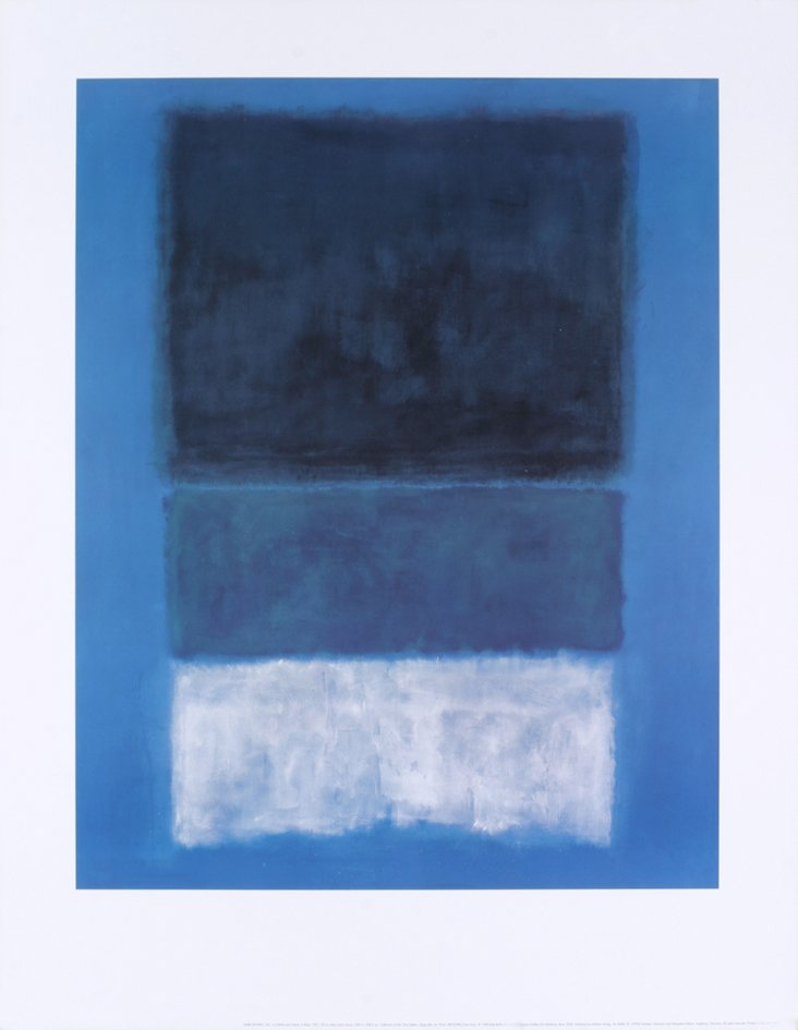 Rothko, No 14 White and Greens in Blue