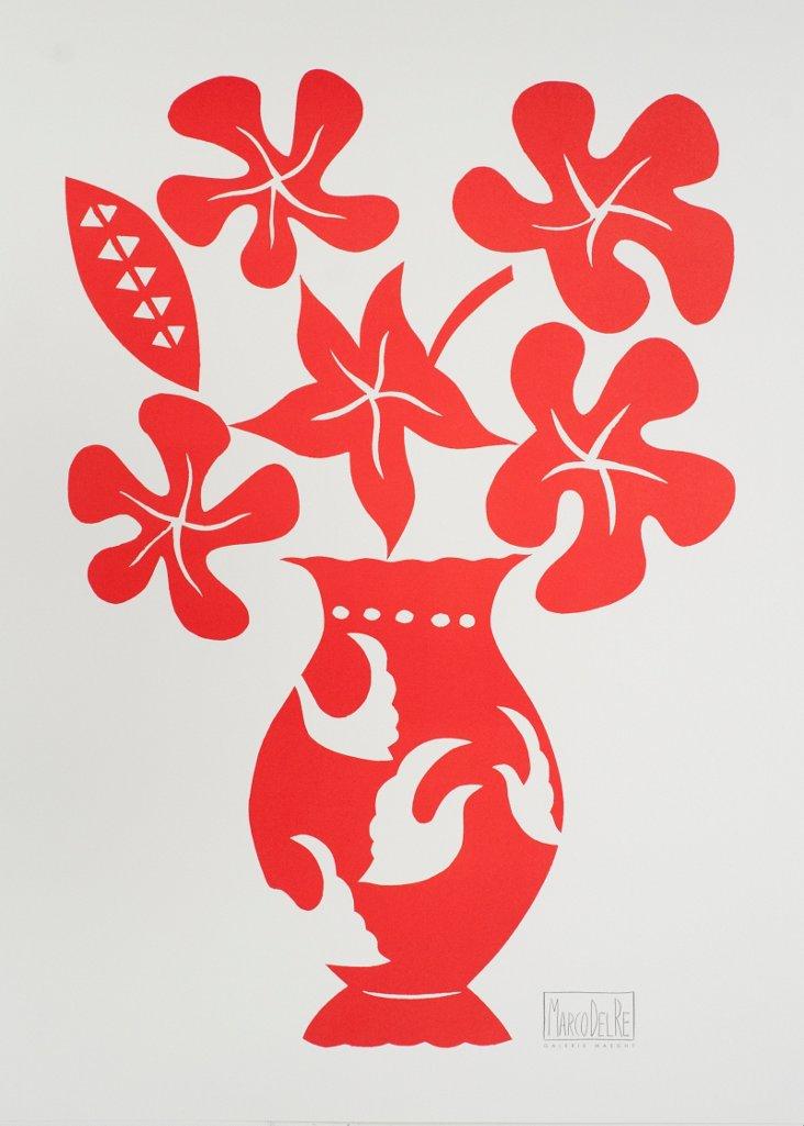 Marco Del Re, Vase I Rouge