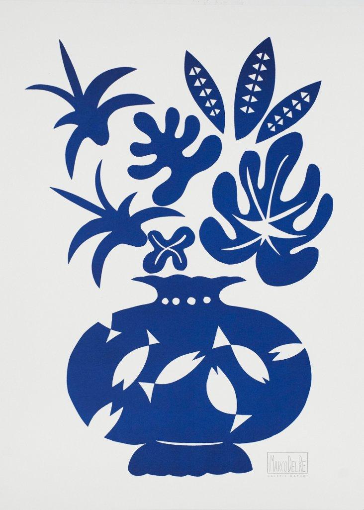 Marco Del Re, Vase II Bleu