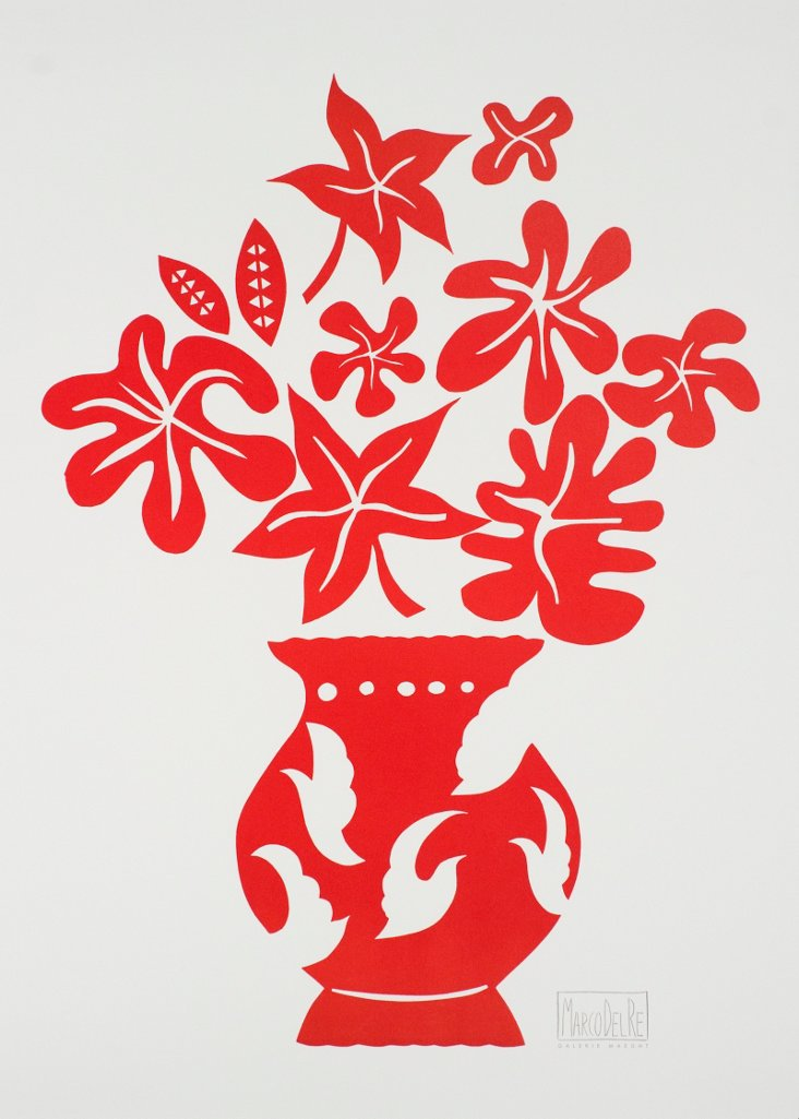 Marco Del Re, Vase IV Rouge