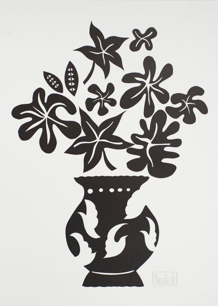 Marco Del Re, Vase IV Noir