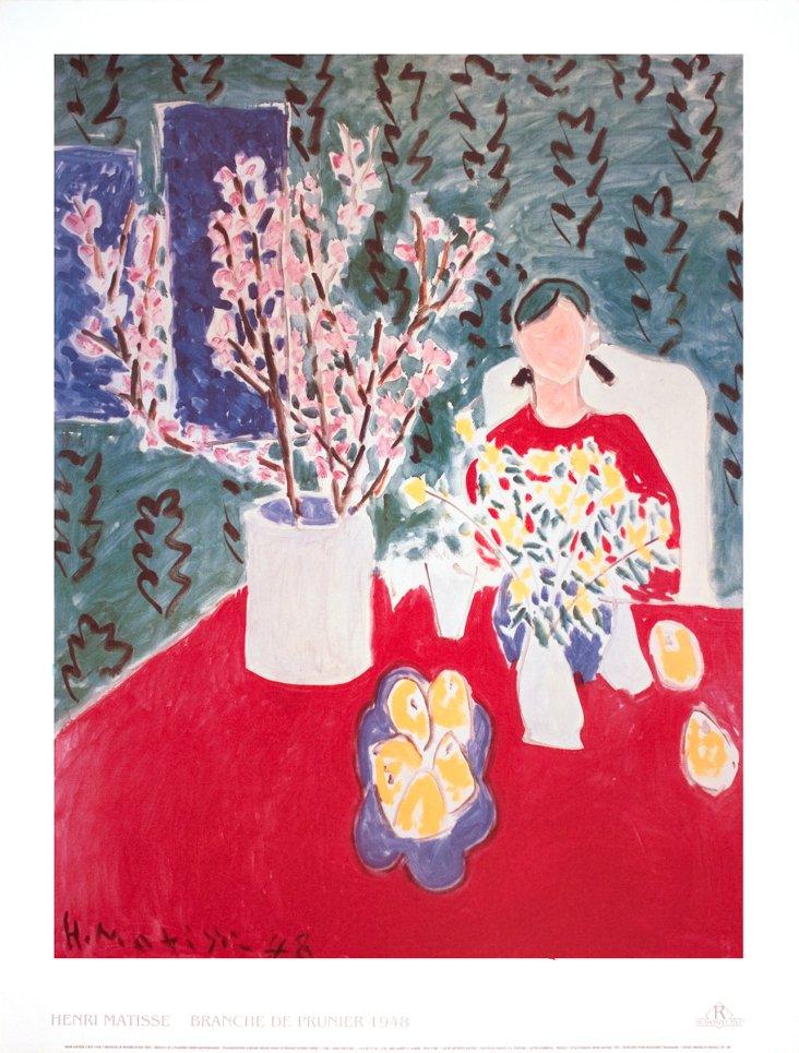 Matisse, Plum Blossoms Green Background