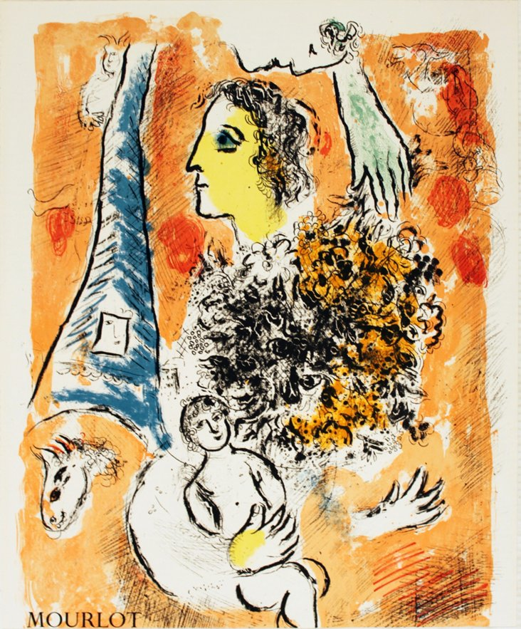 Chagall, Offering to the Eiffel Tower