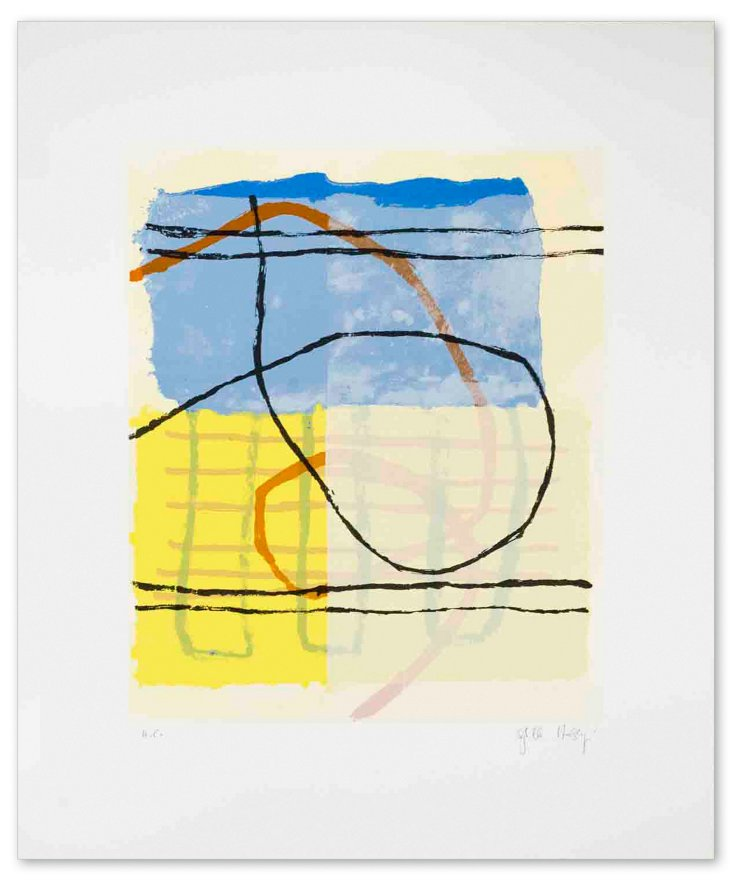 Sybille Hassinger, Untitled II - Signed