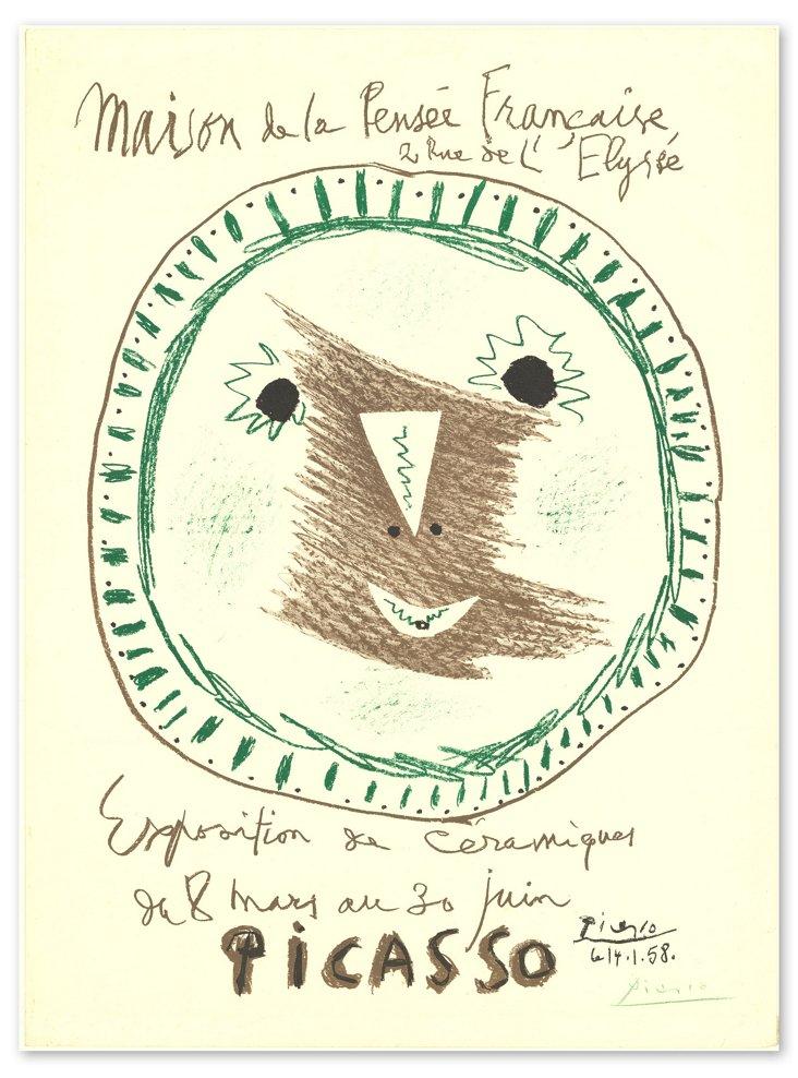 Picasso, Exposition de Ceramiques-Signed