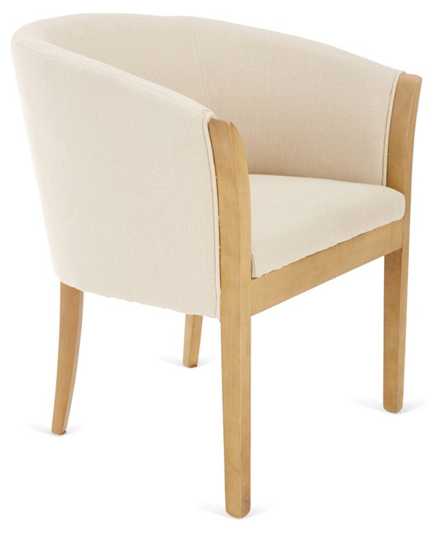 Prince Armchair, Cream/Natural
