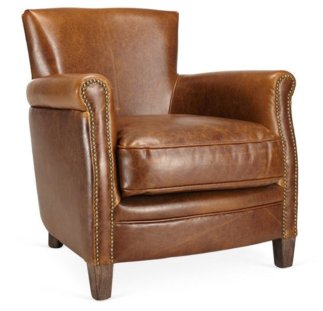 Benoit Club Chair, Cognac