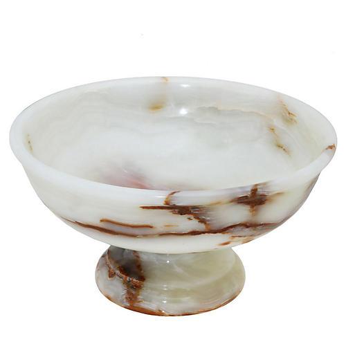 """12"""" Garver Pedestal Bowl, Light Green"""