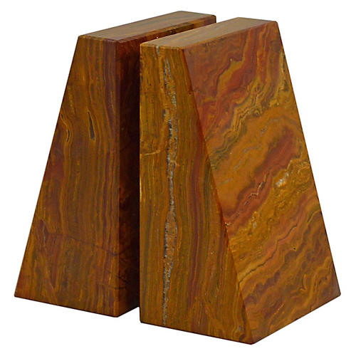 "6"" Cutler Bookends, Saffron Brown"