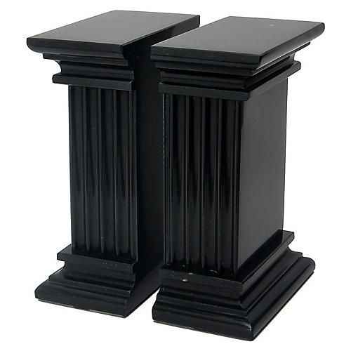 "7"" Cassel Bookends, Jet Black"
