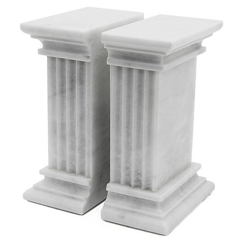 "7"" Cassel Bookends, Pearl White"