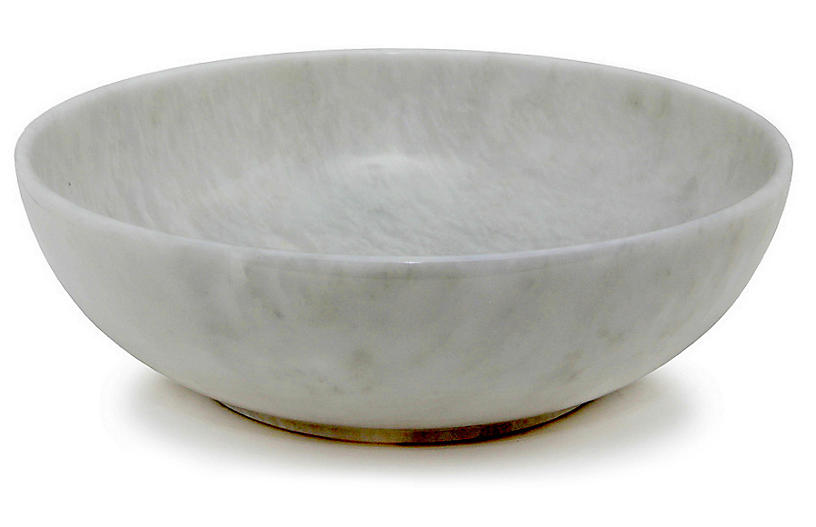 Dalvin Decorative Bowl, Pearl White