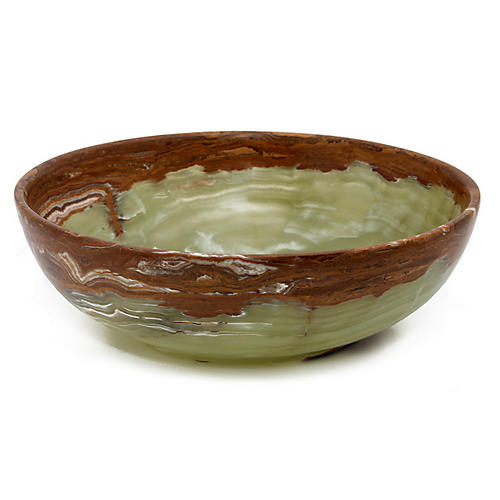 Dalvin Decorative Bowl, Whirl Green
