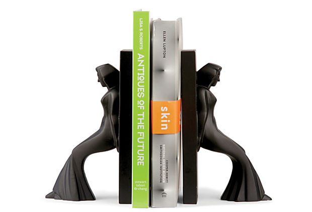 Pair of Bookends, Leaning Ladies