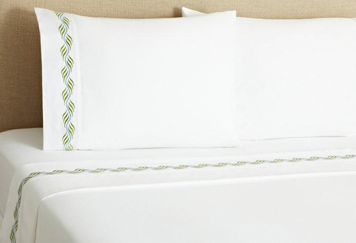Ribbon Sheet Set, Green