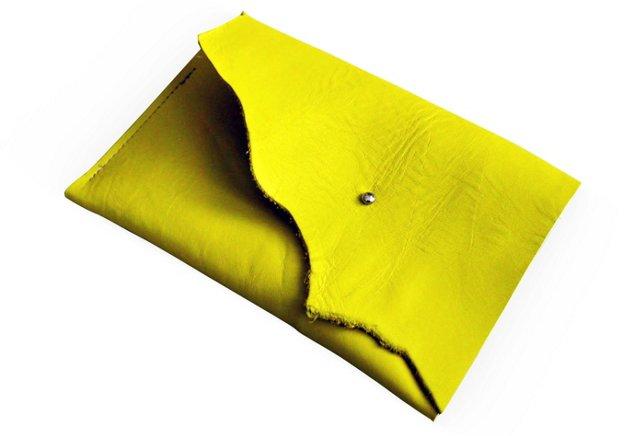 Leather iPad Mini Cover, Lemon Yellow