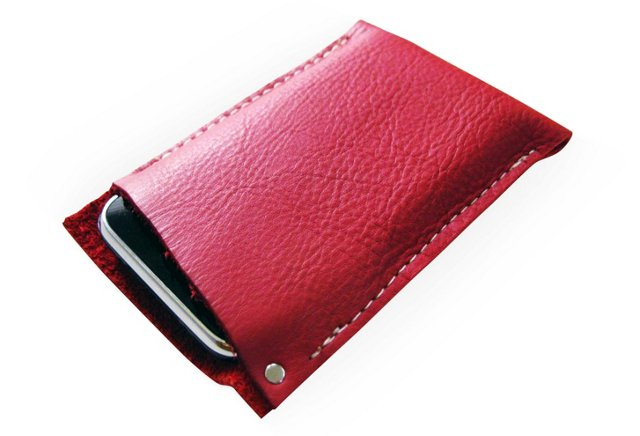 Leather iPhone5 Sleeve, Classic Red