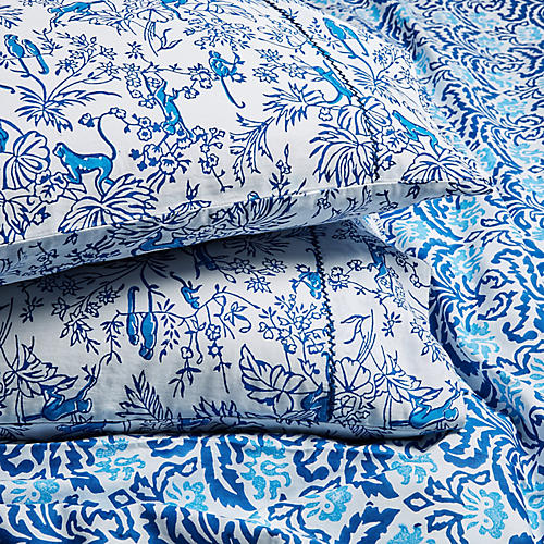 S/2 Charlie Pillowcases, Bright Blue