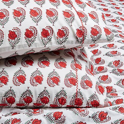 S/2 Ketaki Pillowcases, Soft Red