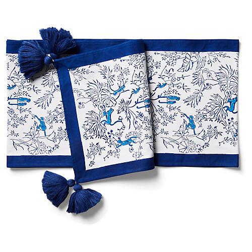 Charlie Table Runner, Bright Blue