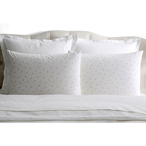 S/2 Pearl Pillowcases, White