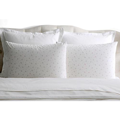 S/2 Pearl Pillowcases, White