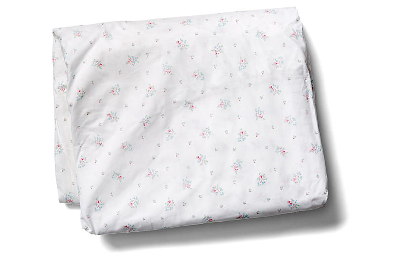 Pearl Fitted Sheet, White