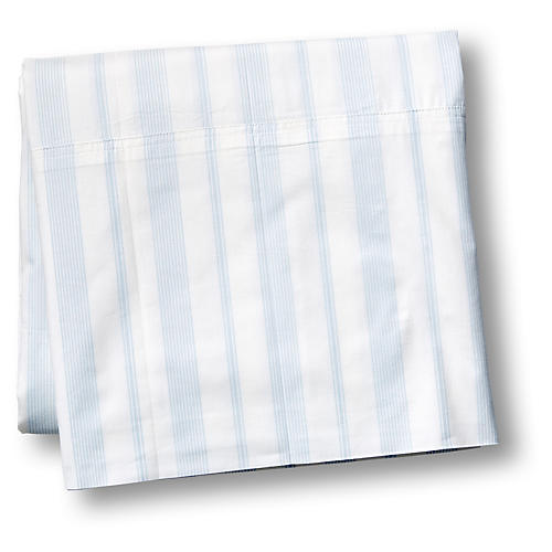 Westminster Flat Sheet, Blue